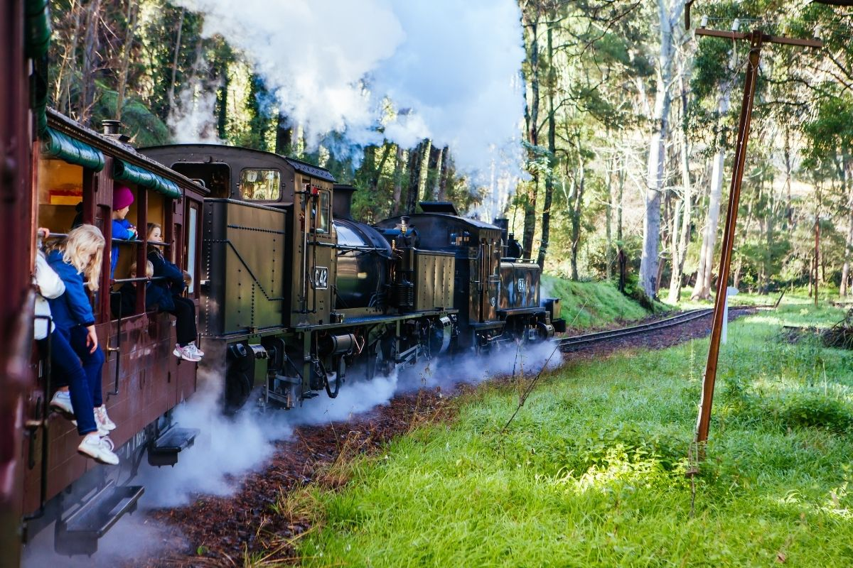 Puffing Billy Railway is a great group activity in the Dandenong Ranges